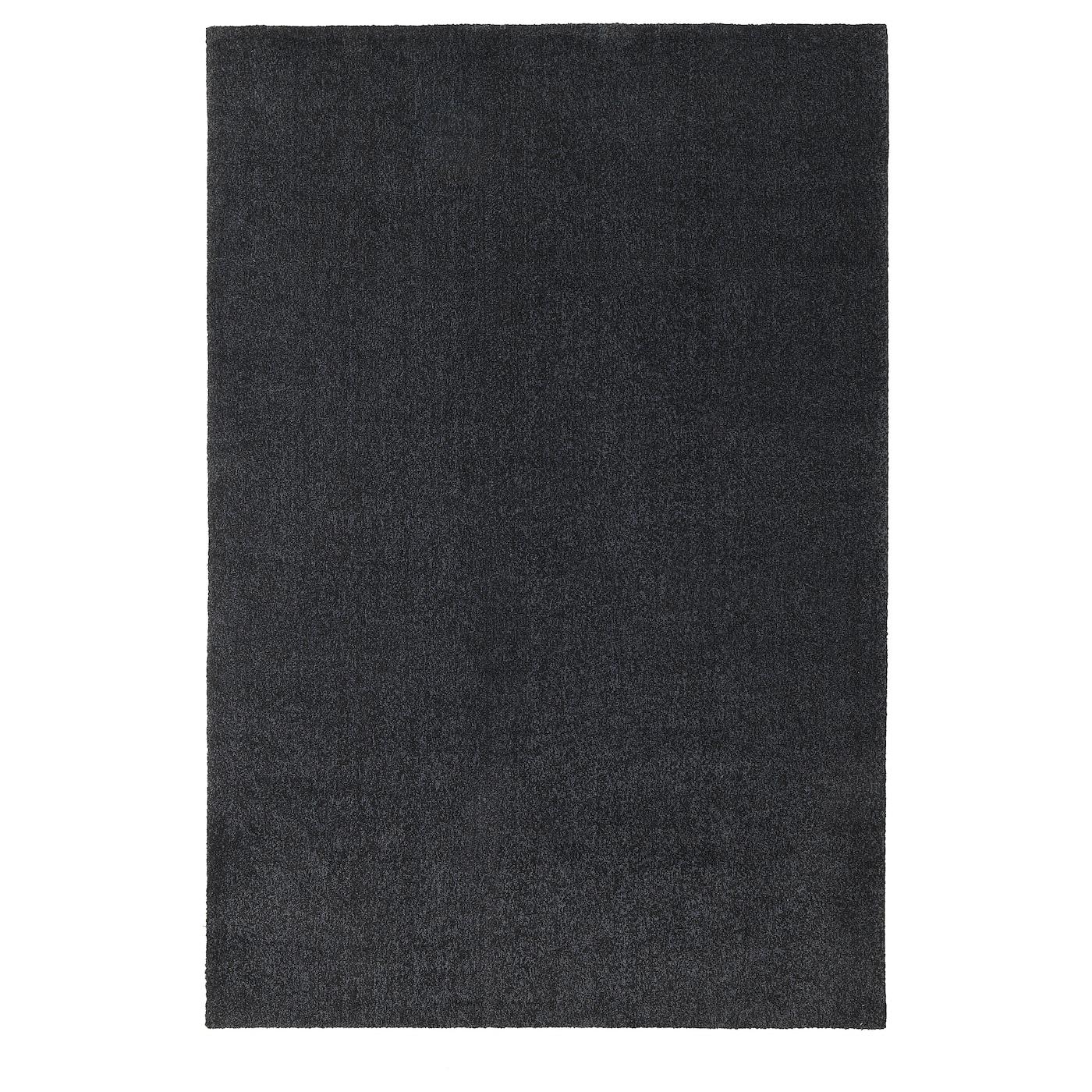 tyvelse tapis poils ras gris fonce 200x300 cm