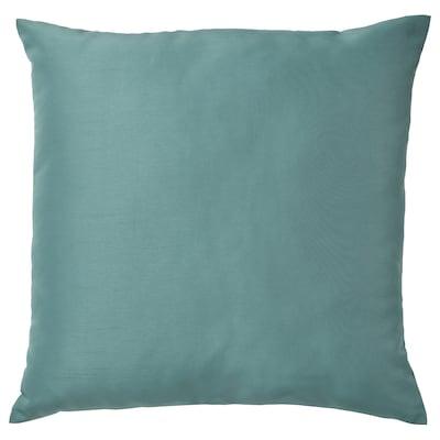 ULLKAKTUS Coussin, gris turquoise, 50x50 cm