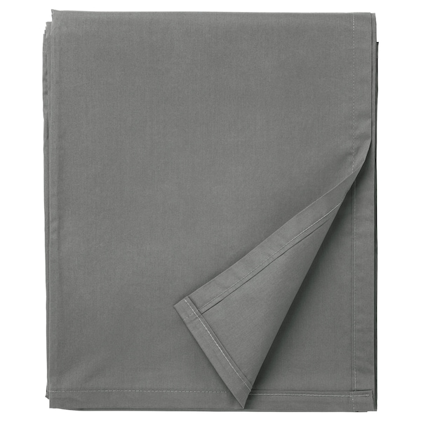 ULLVIDE Drap, gris, 240x260 cm