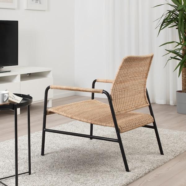 ULRIKSBERG fauteuil rotin/anthracite 76 cm 67 cm 74 cm 76 cm 20 cm 6.2 cm 54 cm 60 cm 60 cm 37 cm 110 kg