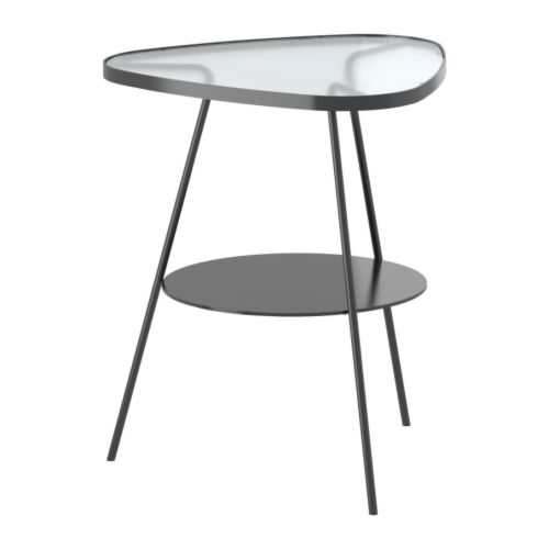 Ulsberg table de chevet gris fonc verre givr ikea for Table de chevet ikea