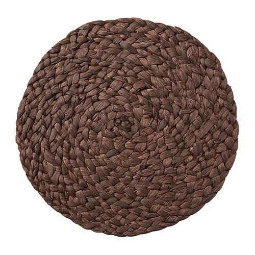 UPPLÄGG Set de table , brun Diamètre: 37 cm