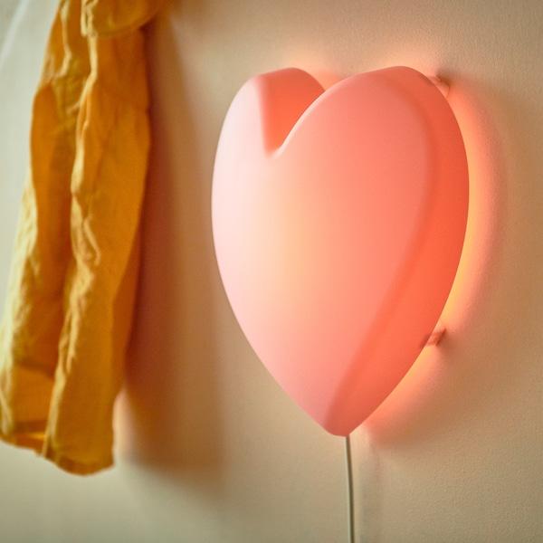 UPPLYST Applique à LED, coeur rose