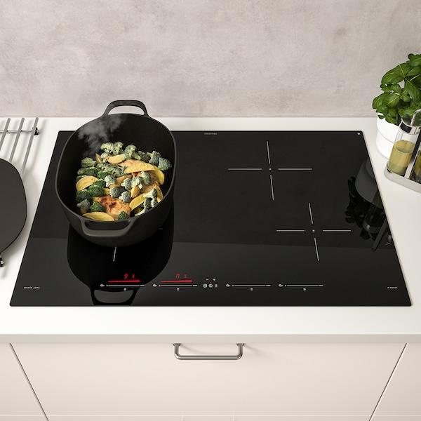 UTNÄMND Table de cuisson induction, IKEA 500 noir, 78 cm