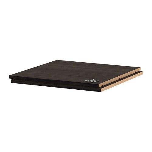 Utrusta Tablette Effet Bois Noir 60x60 Cm Ikea
