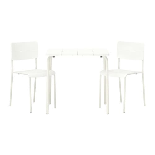 V dd table 2 chaises ext rieur ikea for Mobilier exterieur ikea