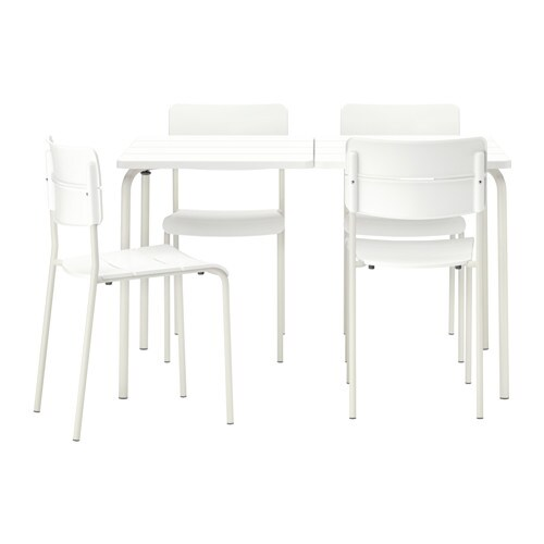 V dd table 4 chaises ext rieur ikea for Table chaise exterieur