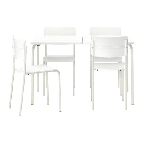 V dd table 4 chaises ext rieur ikea for Mobilier exterieur ikea