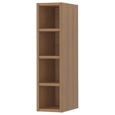 VADHOLMA Rangement ouvert, brun/frêne teinté, 20x37x80 cm