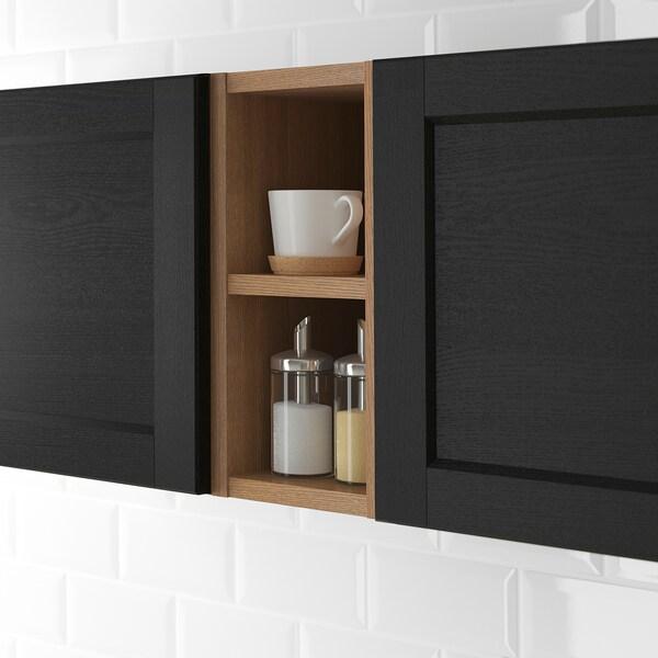 VADHOLMA Rangement ouvert, brun/frêne teinté, 20x37x40 cm