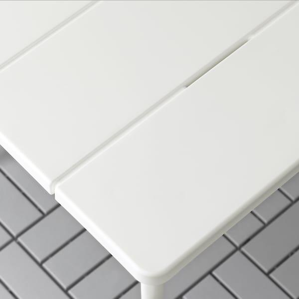 VÄDDÖ Table, extérieur, blanc, 116x74 cm