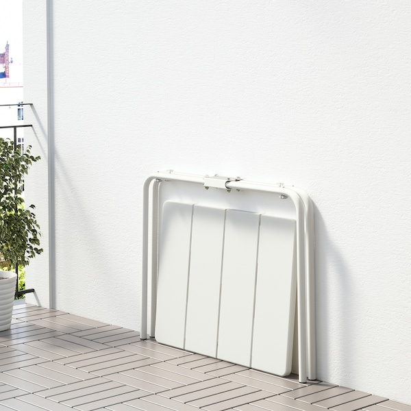 VÄDDÖ Table, extérieur, blanc, 58x74 cm