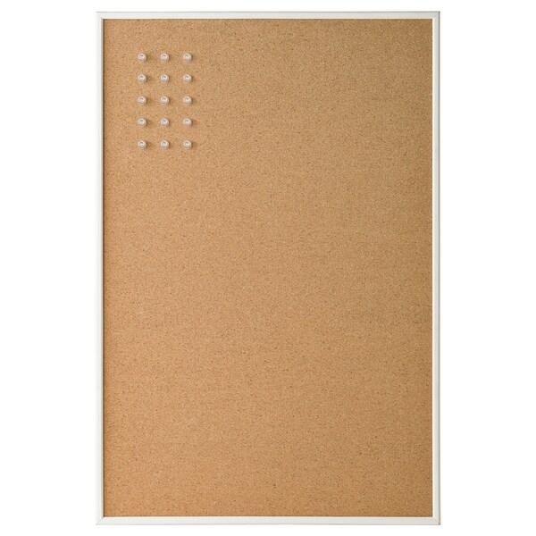 VÄGGIS Tableau-mémo avec punaises, blanc, 58x39 cm