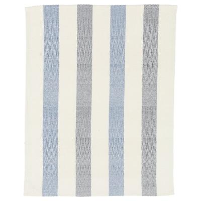 VÄLGÖRANDE torchon fait main/blanc/bleu 65 cm 50 cm