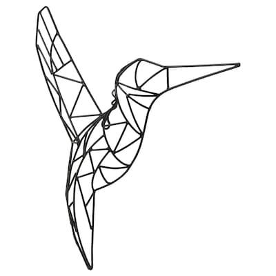 VÄTTLÖSA Décoration murale, oiseau noir, 36x39 cm