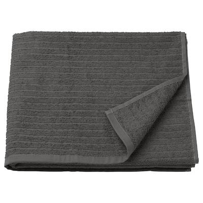 VÅGSJÖN Drap de bain, gris foncé, 70x140 cm