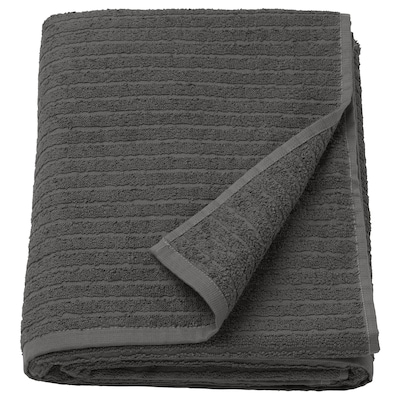 VÅGSJÖN Drap de bain, gris foncé, 100x150 cm