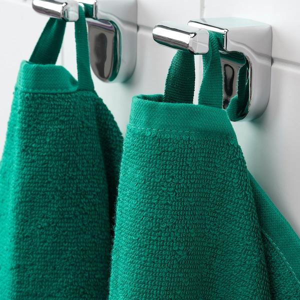 VÅGSJÖN Drap de bain, vert foncé, 70x140 cm