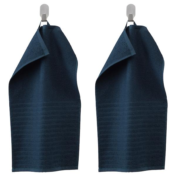 VÅGSJÖN Essuie-main, bleu foncé, 30x50 cm