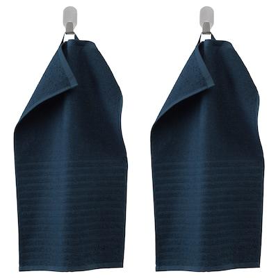 VÅGSJÖN essuie-main bleu foncé 50 cm 30 cm 0.15 m² 400 g/m² 2 pièces