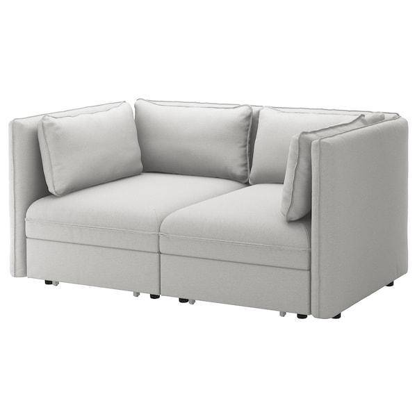 VALLENTUNA canapé modulaire 2 pl av 2 conv Orrsta gris clair 186 cm 113 cm 84 cm 100 cm 45 cm 160 cm 200 cm
