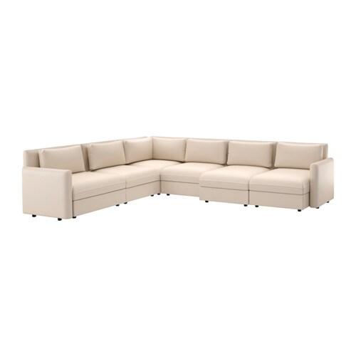 vallentuna canap angle 6 pl murum beige ikea. Black Bedroom Furniture Sets. Home Design Ideas