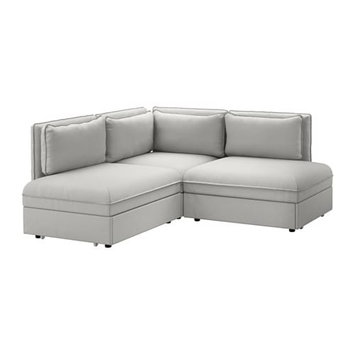 vallentuna canap angle 3 pl couchage orrsta gris clair ikea. Black Bedroom Furniture Sets. Home Design Ideas
