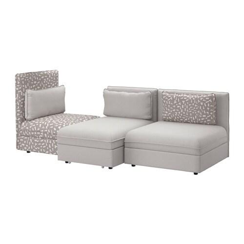 vallentuna canap 3 places couch orrsta gris clair funnarp noir beige ikea. Black Bedroom Furniture Sets. Home Design Ideas