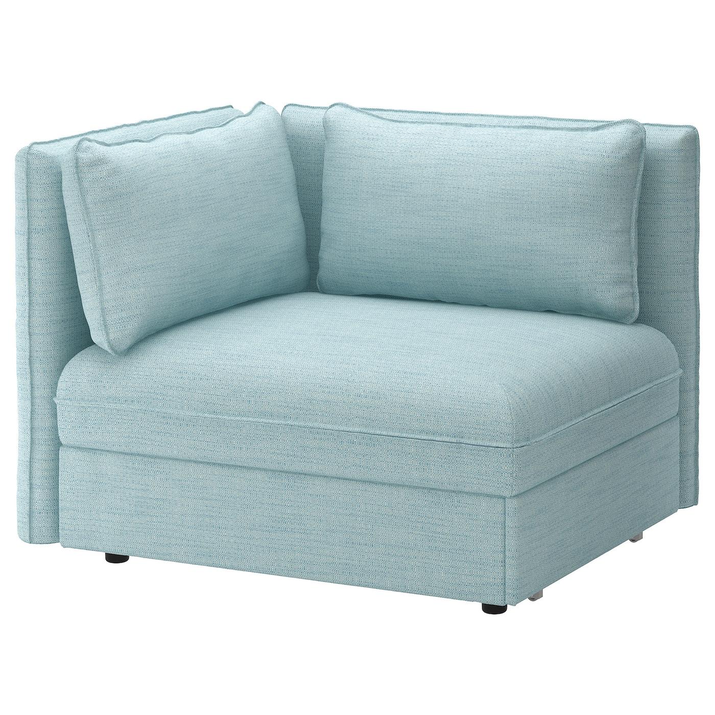 Vallentuna Module Convertible Avec Dossiers Hillared Bleu Clair Ikea
