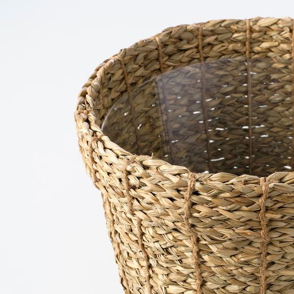 VALLMOFRÖN Cache-pot, jonc de mer, 24 cm