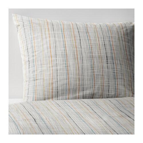 v r rt housse de couette et taie 150x200 65x65 cm ikea. Black Bedroom Furniture Sets. Home Design Ideas