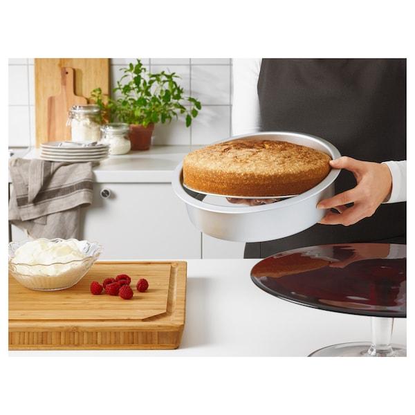 VARDAGEN Moule à gâteau fond amovible, couleur argent