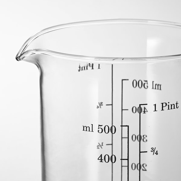 VARDAGEN Pichet doseur, verre, 0.5 l