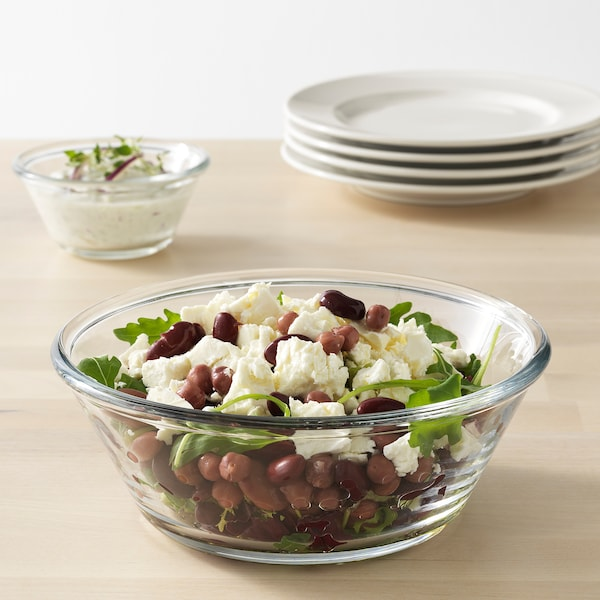VARDAGEN saladier verre transparent 7 cm 20 cm