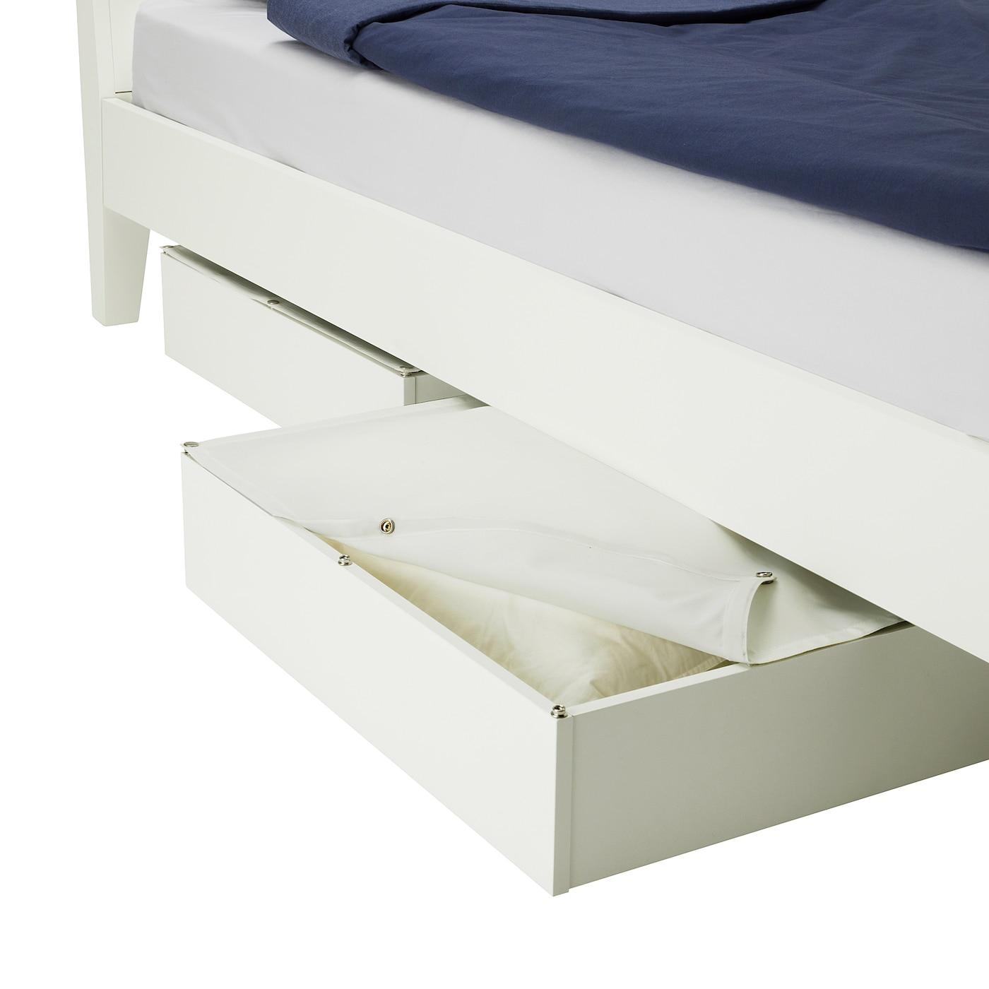 Vardo Rangement Pour Lit Blanc 65x70 Cm Ikea