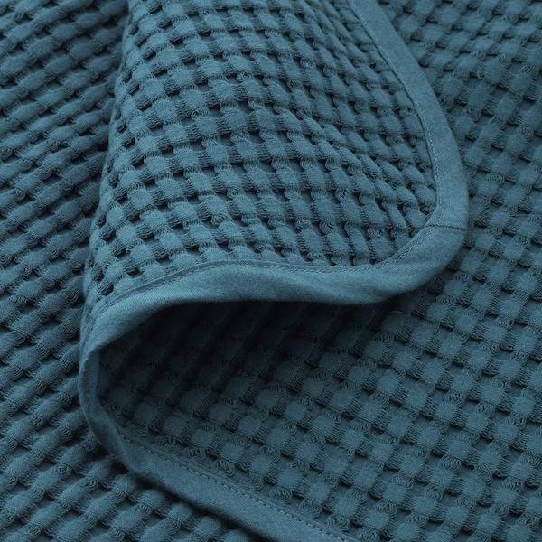 VÅRELD Couvre-lit, bleu foncé, 230x250 cm