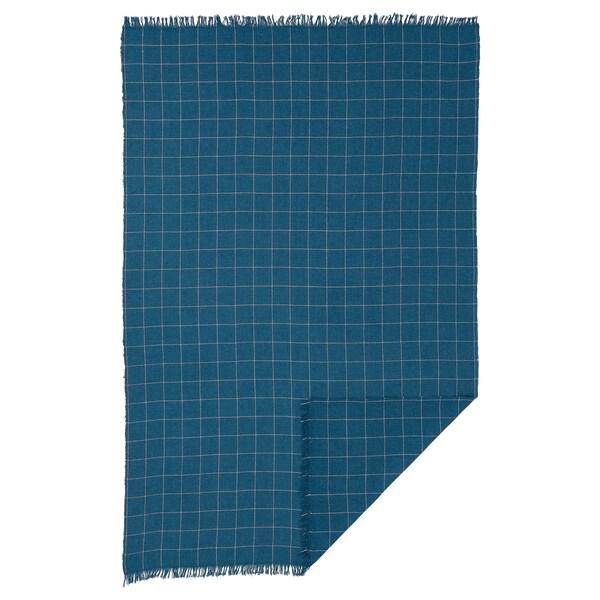 VÅRKRAGE plaid bleu 170 cm 110 cm 370 g