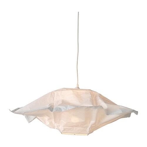 VARMLUFT Abat-jour suspension , carré blanc cassé Longueur: 66 cm Hauteur: 25.5 cm