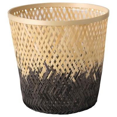 VATTENMELON Cache-pot, bambou naturel/noir, 19 cm