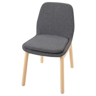 VEDBO Chaise, bouleau/Gunnared gris moyen