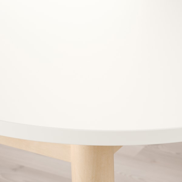 VEDBO / RÖNNINGE Table et 4 chaises, blanc/bouleau, 160x95 cm