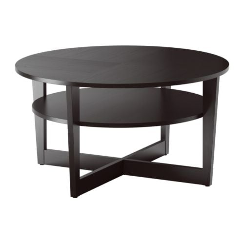 Vejmon table basse brun noir ikea - Table basse brun noir ...