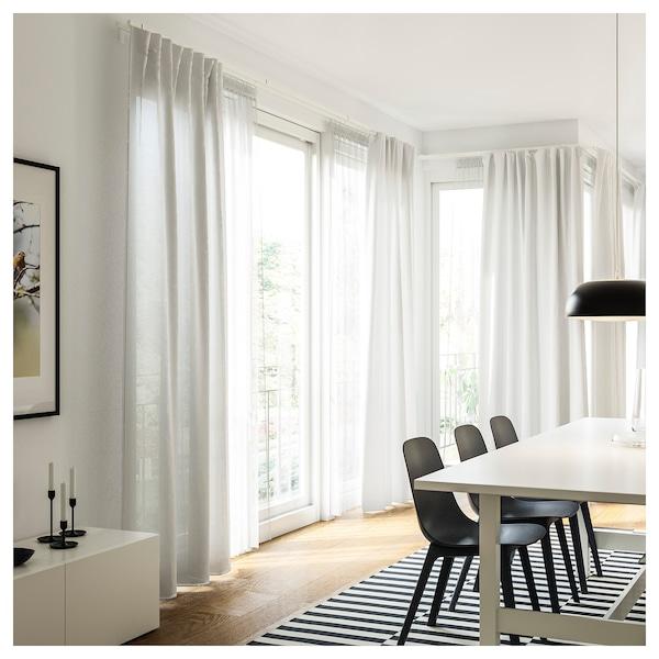 VIDGA Rail pour rideau, simple, blanc, 140 cm