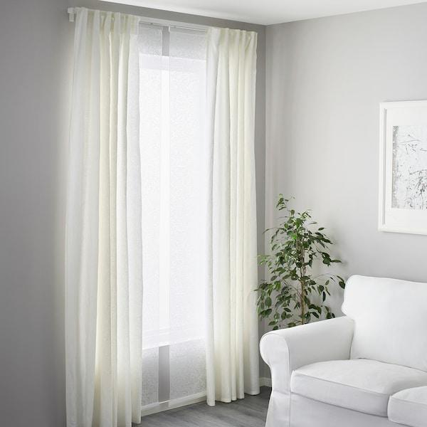 Vidga Rail Pour Rideau Triple Blanc Ikea