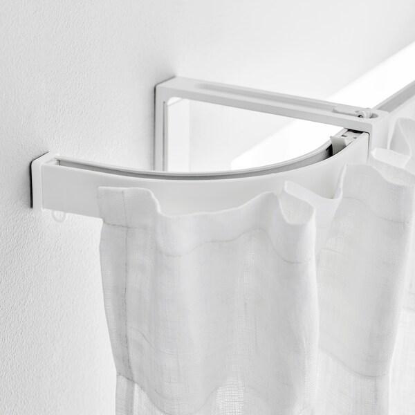 VIDGA Section d'angle pour rail simple, blanc