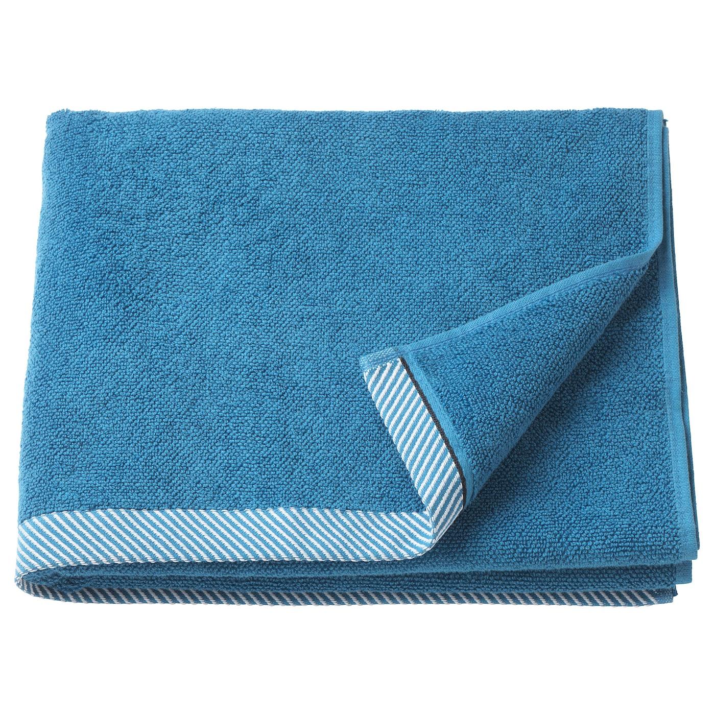 VIKFJÄRD Drap de bain - bleu - IKEA