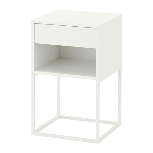 vikhammer table chevet blanc ikea. Black Bedroom Furniture Sets. Home Design Ideas