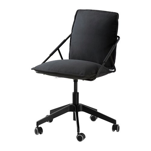 Villstad chaise pivotante samsta anthracite ikea for Chaise pivotante