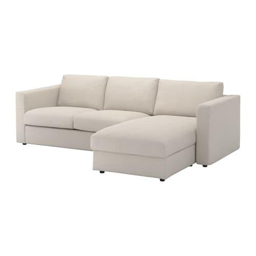 VIMLE Canapé 3 places avec méri nne Gunnared beige IKEA