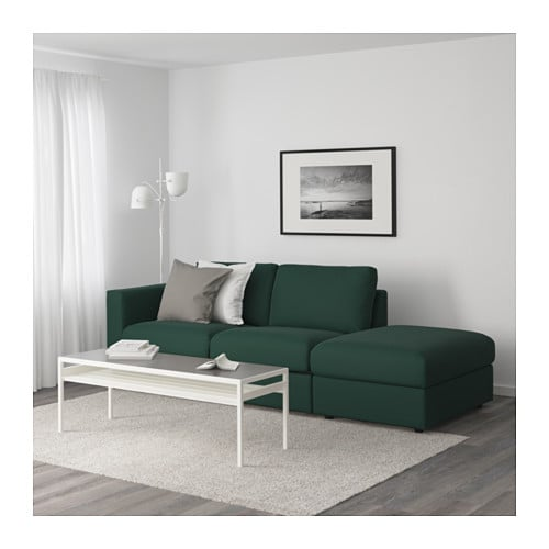vimle canap 3 places sans accoudoir gunnared vert fonc ikea. Black Bedroom Furniture Sets. Home Design Ideas